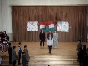 1956-os megemlékezés az iskolában (2015)